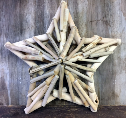 Driftwood Star XL Natural Wood Hanging Decoration